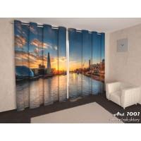 Фото-шторы город на реке Арт 1001