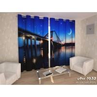 Фото-шторы Арочный мост Новосибирска Арт 1032